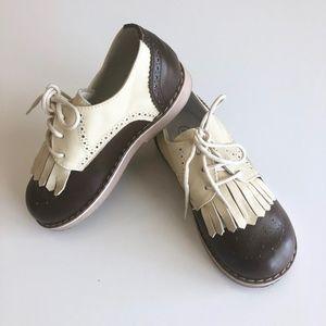 Boys Designer Italian Brown Leather Shoe 26/ 9 9.5